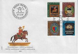 "Switzerland 1981  ""Pro Patria""  27.5.81  Mi.1199-1202 - FDC"