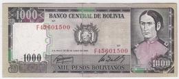 Bolivia 1000 Pesos 1982 P-167 /018B/ - Bolivien