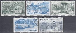 SUECIA 1977 Nº 980/984 USADO 1º DIA - Gebraucht