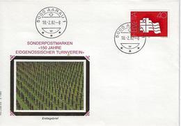 Switzerland 1982  Eidgenossischer Turnverein  18.2.82  Mi.1217 - FDC