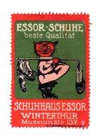 Rare Vignette Reklamemarke Schuhe Essor Winterthur Suisse, Schweiz - Cinderellas