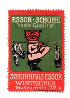 Rare Vignette Reklamemarke Schuhe Essor Winterthur Suisse, Schweiz - Erinofilia