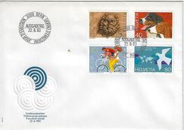 Switzerland 1983  Events  22.8.83  Mi.1256-1259 - FDC