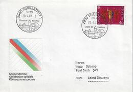 Switzerland 1983  PORRENTRUY  20.4.83  Mi.1221 - Postmark Collection