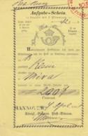 Deutsches Reich Aufgabeschein 1861 - Deutschland