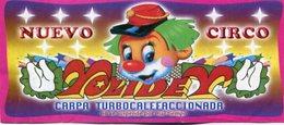 NUEVO CIRCO YOLIDEY. VENIA EN VACACIONES. RUTA 202 AL 2400 SAN FERNANDO BUENOS AIRES ARGENTINA CIRCA 1980. CIRCUS -LILHU - Publicidad