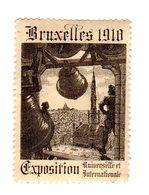 Vignette Reklamemarke Exposition Bruxelles 1910, Belgique, Belgien - Erinofilia