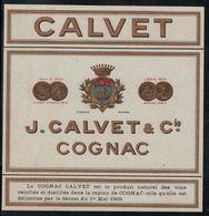 Etiquette Cognac Calvet - Autres