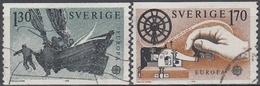 SUECIA 1979 Nº 1040/1041 USADO - Gebraucht
