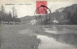 LUXEMBOURG  -  L'ALZETTE A SCHLEIFMÜHL  2 Scans   Ch. Bernhoeft - Cartes Postales