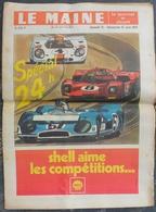24 H Du Mans 1971.Joël Le Theule.Jacky Olivier.Vic Elford.Steve Mc Queen Invité D'Honneur. - Journaux - Quotidiens