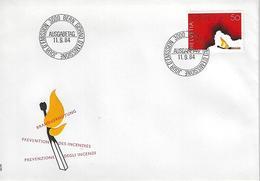 Switzerland 1984  Fire Prevention  11.9.84  Mi.1283 - FDC