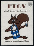 Etiquette De Vin // Etoy, Vin De La Jeunesse - Other