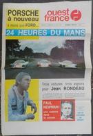 24 H Du Mans 1979.Jean Rondeau.Paul Newman.Porsche-Ford.Pescarolo,Beltoise,Darniche-Ragnotti,Jacky Ickx. - Journaux - Quotidiens