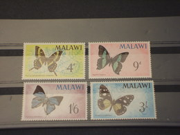MALAWI - 1966 FARFALLE 4 VALORI - NUOVI(++) - Malawi (1964-...)