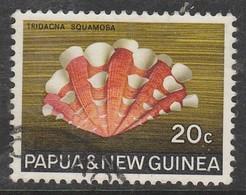 Papua New Guinea 1968 -1969 Seashells 20 C Multicoloured SW 147 O Used - Papua New Guinea
