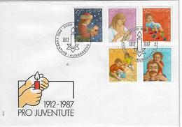 "Switzerland 1987  ""Pro Juventute""  24.11.87  Mi.1359-1363 - FDC"