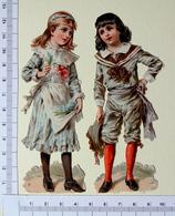 2 CHROMOS DECOUPIS.......H  12 Cm......COUPLE D'.ENFANTS - Enfants