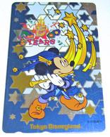 Télécarte Métal Argent Japon / 110-201551 - DISNEY DISNEYLAND 15 Th Anniversary - Mickey Japan Silver Phonecard - Disney