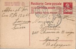 PK 62  Lausanne - Gent Belgien        1918 - Stamped Stationery