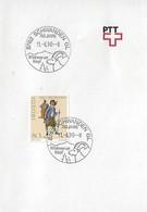 Switzerland 1990  SCHWANDEN  11.6.90  Mi.1419 - Postmark Collection