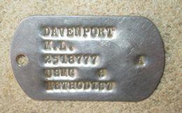 Plaque ID USMC Vietnam - Equipement