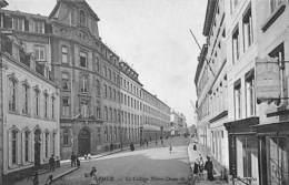 Namur - Le Collège Notre-Dame De La Paix Et La Rue De Bruxelles (animée, Café Du Luxembourg) - Namur