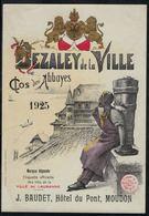 Etiquette De Vin // Dézaley De La Ville De Lausanne 1925, Hôtel Du Pont Moudon - Etiquetas