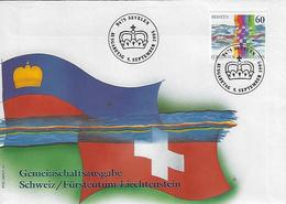 Switzerland 1995  Swiss / Lichtenstien  5.9.95  Mi.1558 - FDC