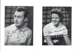 CYCLISME- LA VICTOIRE DE CHARLY GAUL - LA VICTOIRE DE ELSY JACOBS Carte Double  2Scans - Cyclisme