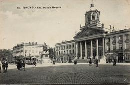 CPA BELGIQUE BRUXELLES Place Royale - Marktpleinen, Pleinen