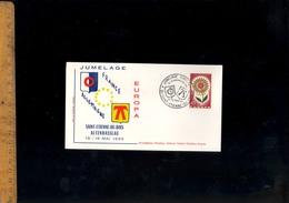 Timbre Poste EUROPA 1965 Cachet Jumelage SAINT ST ETIENNE DU BOIS Ain / Altenhasslau  Sur Enveloppe - Francia