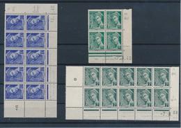 FRANCE - LOT DE 3 COINS DATES MERCURE NEUFS** SANS CHARNIERE/NEUFS (*) SANS GOMME DONT 1 AVEC ERREUR DE DATE? - 1940-1949