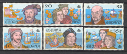 Spain 1987 - V Cent. Descubrimiento Ed 2919-24 (**) - 1981-90 Nuevos & Fijasellos