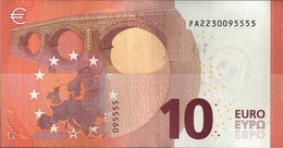 ! UNCIRCUL.10 Euro F002C5, FA2230095555, BULGARIE, Currency, Banknote, Billet Mario Draghi, EZB, Europäische Zentralbank - EURO