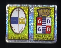 Figurina Calciatori Italiani Panini 1997-1998 - Pro Sesto E Pro Patria  - N.183  Scudetto  - Football - Soccer - Socker - Panini