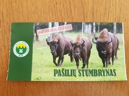 Lithuania Ticket Pasiliu Stumbrynas Nature 2019 - Tickets - Entradas