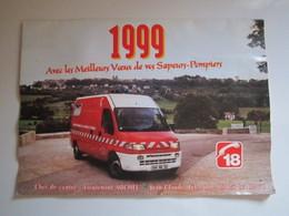 1999 Le Calendrier Des Sapeurs Pompiers De LANGRES (a Pris L'eau) - Calendriers