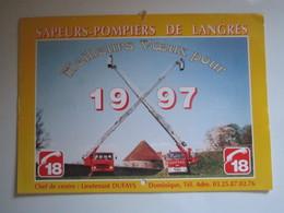 1997 Le Calendrier Des Sapeurs Pompiers De LANGRES - Calendriers