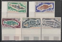N° 34 à 38** POISSONS - Terres Australes Et Antarctiques Françaises (TAAF)