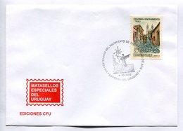 VIII CENTENARIO DEL NACIMIENTO DE SAN ANTONIO DE ASIS. CORREOS DEL URUGUAY 1982 MATASELLO ESPECIAL SPC ENVELOPE -LILHU - Cristianismo