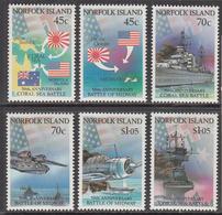 1992 Norfolk Island World War II Naval Battles WWI Military  Ships  Complete Set Of 6  MNH - Norfolkinsel