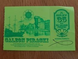 Poland Gdansk Pirate Galleon Ticket  2019 - Tickets - Entradas