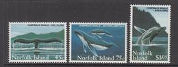 1995 Norfolk Island Whales Baleen   Complete Set Of 3  MNH - Ile Norfolk