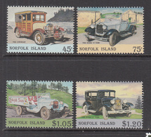 1995 Norfolk Island Vintage Automobiles Cars    Complete Set Of 4  MNH - Ile Norfolk