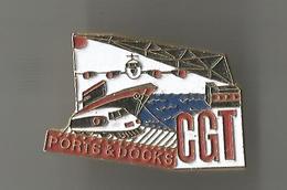 Pin's Ports Et Docks CGT - Transports