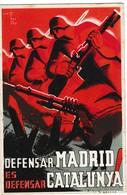 GUERRA CIVIL 1937  TARJETA DEFENSAR MADRID  SELLO DE CUAQUEROS  ELA 136 - 1931-Today: 2nd Rep - ... Juan Carlos I