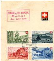 Congrès Juif Mondial Montreux  1948 - Lettres & Documents