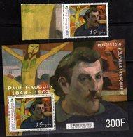 FRENCH POLYNESIA, 2018, MNH,  ART, PAINTINGS, PAUL GAUGIN, 1v+S/SHEET - Art