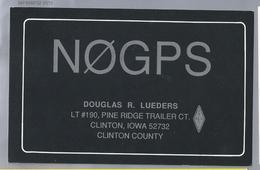 US.- QSL KAART. CARD. NØGPS. DOUGLAS R. LUEDERS, CLINTON, IOWA. CLINTON COUNTY. U.S.A. - Radio-amateur